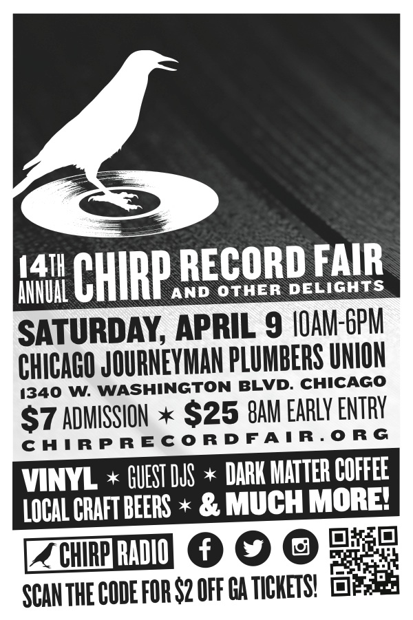 flyer for the CHIRP Record Fair, April 9 2016